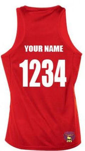 Scrimmage Singlet Womens Red