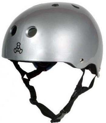 Triple 8 Brainsaver Helmet Silver Gloss
