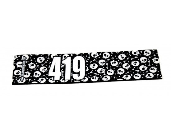 Number Arm Bands Deluxe- Skull Black & White