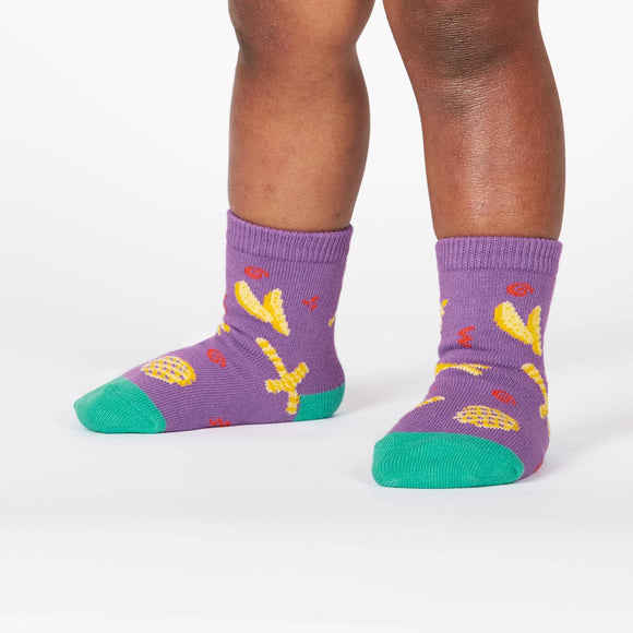 Sock it to me Everyday is Fry-Day Toddler (aged 1-2) Crew Socks