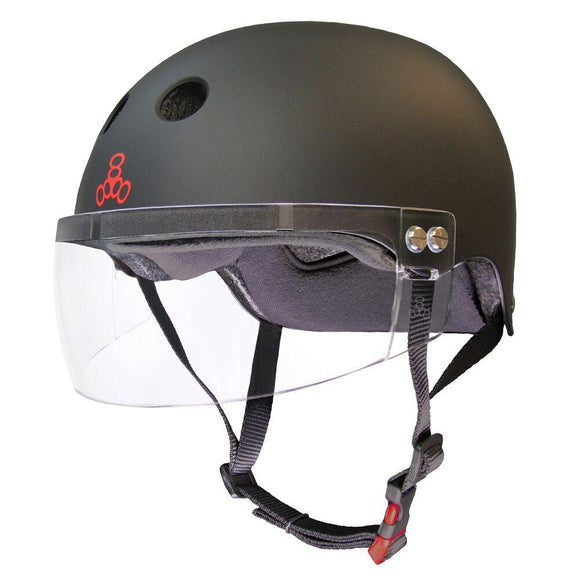 Triple 8 THE VISOR Certified Helmet SS Black Rubber