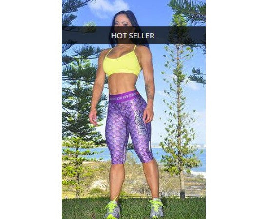 Sassfit Unleash the Monster by GODJILLA* 3/4 Compression Tights