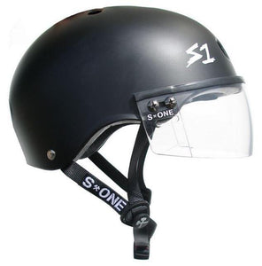 S1 Visor Lifer Helmet Black Matte