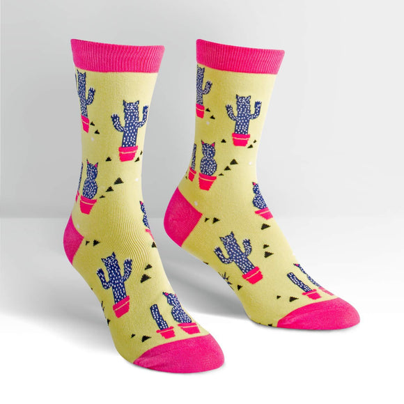 Sock it to Me Catcus Womens Crew Socks