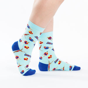 Sock it to Me Pool Party Womens Crew Socks