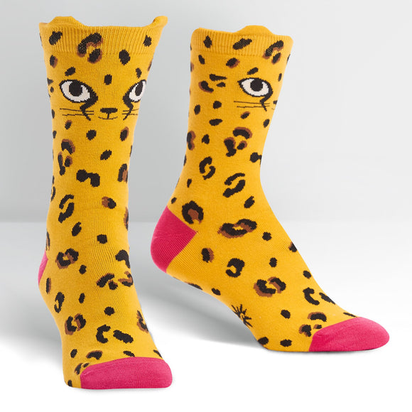 Sock it to Me Chee-Toes Womens Crew Socks