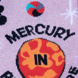 Sock it to Me  Mercury in Retrograde Womens Crew Socks