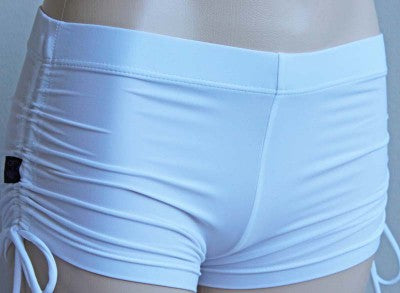 Deby Damage Multisnatch Booty Shorts White