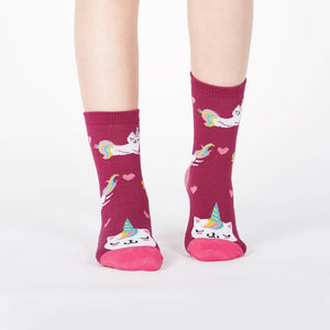 Sock it to Me Look at Me Meow Junior (aged 7-10) Crew Socks