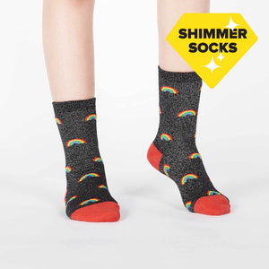 Sock it to me Glitter Over the Rainbow Youth (aged3-6) Crew Socks