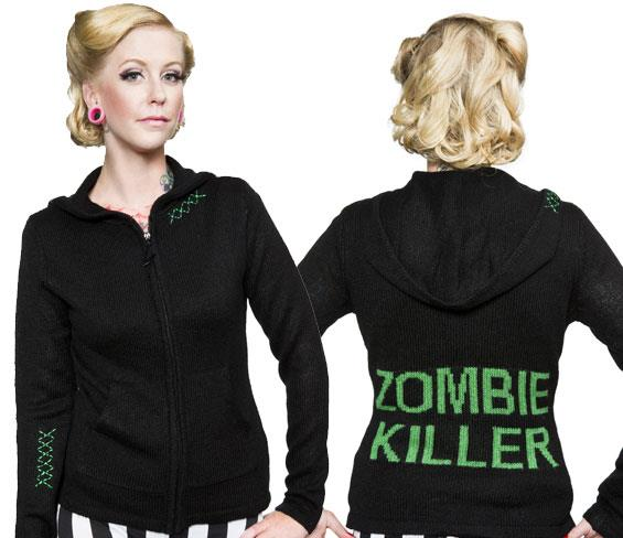 Sourpuss Zombie Killer Sweater Size 2XL