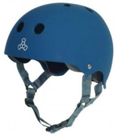 Triple 8 Brainsaver Helmet Blue Rubber