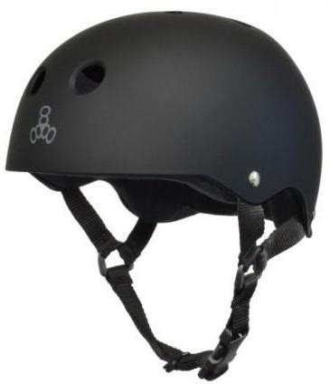 Triple 8 Brainsaver Helmet Black Rubber w/ Black Liner