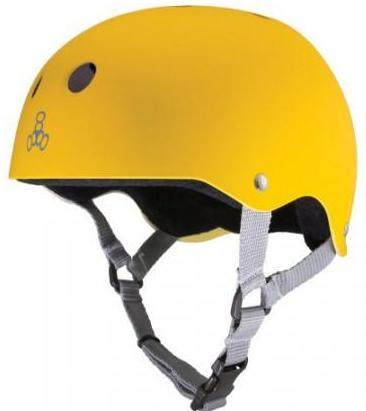 Triple 8 Brainsaver Helmet Yellow Rubber