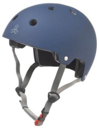 Triple 8 Certified Helmet Blue Rubber