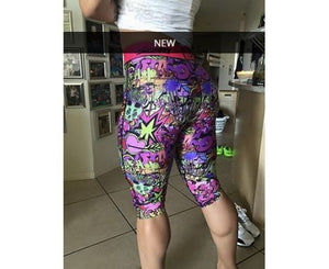 Sassfit Graffiti 3/4 Compression Tights Size Xsmall