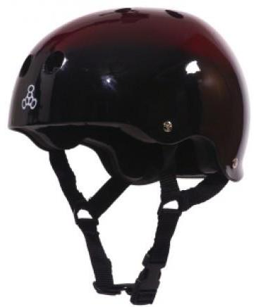 Triple 8 Brainsaver Helmet Red Fade Gloss