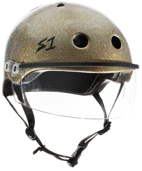 S1 Visor Lifer Helmet Gold Glitter