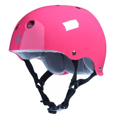 Triple 8 Brainsaver Helmet Pink Gloss W/Grey