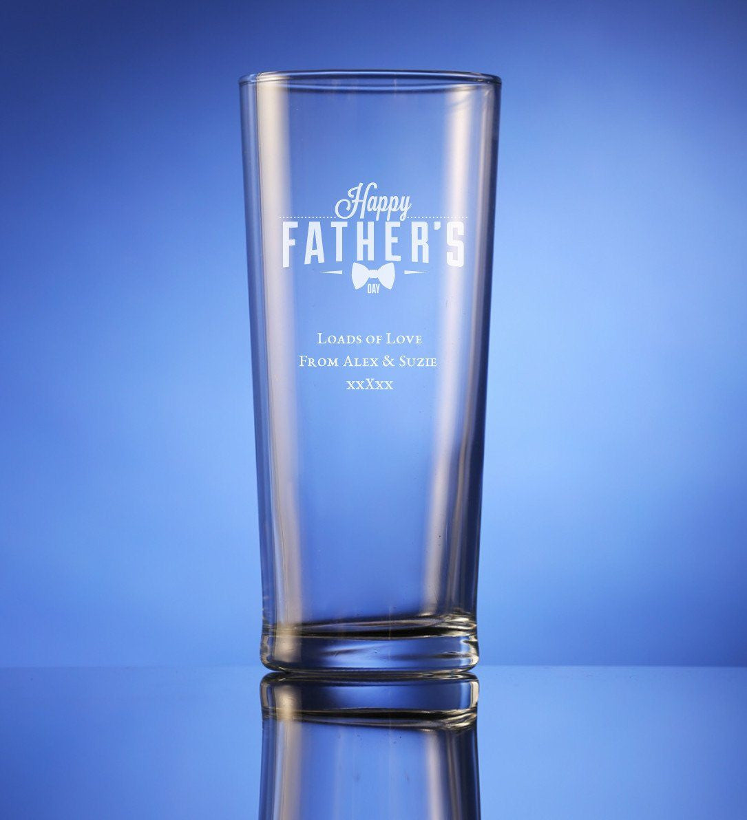 Fathers Day Beer Glass The Personalised Gift Store
