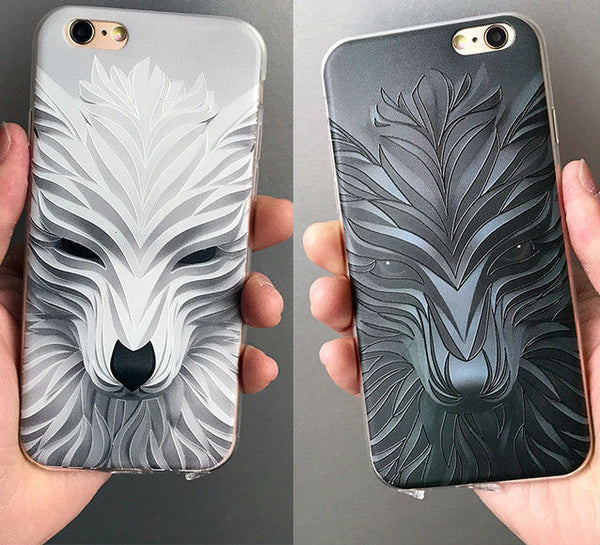 Coque Iphone Loup 3D