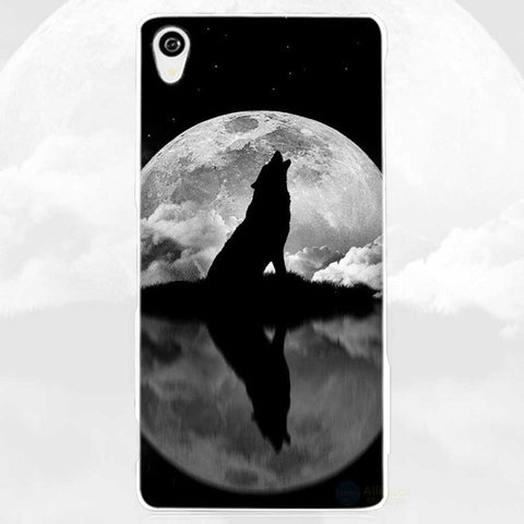 Coque Sony Loup-Lune