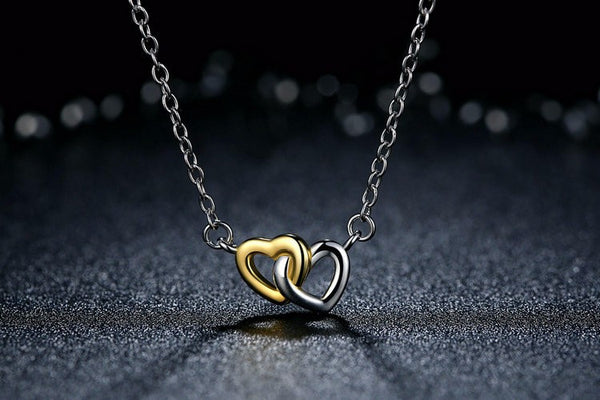 Sterling Silver and Gold Love Pendant