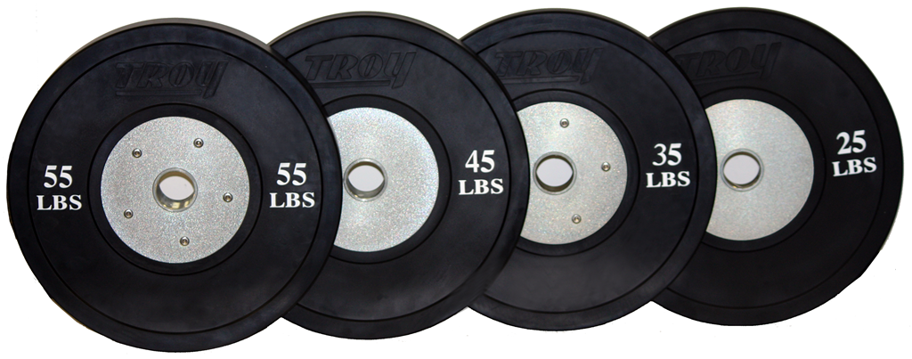Troy Barbell Competition Bumper Plates - Black
