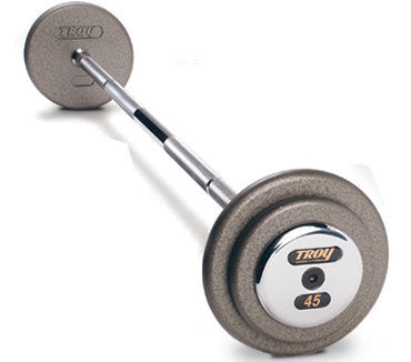 Troy Pro Style Straight Barbell - Hammertone Gray