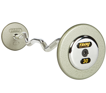 Troy Pro Style Curl Barbell - Hammertone Gray