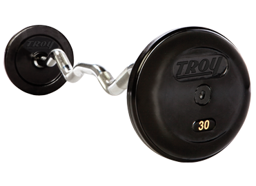 Troy Pro Style Rubber Encased Fixed Curl Barbell
