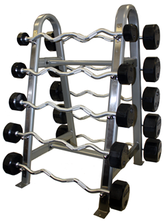 Troy Curl Rubber Barbell Set