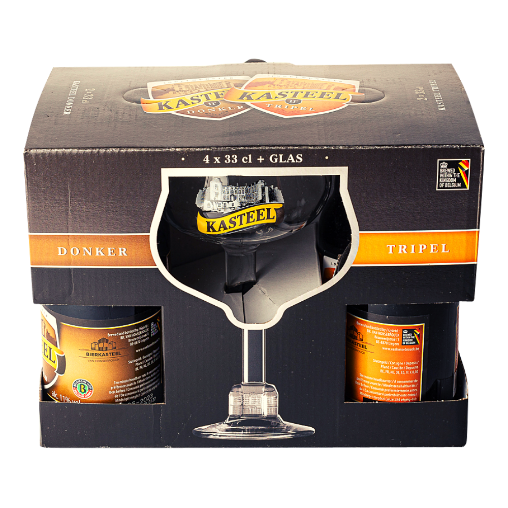 Kasteelbier Gift Pack (4 X 33cl + Glass)