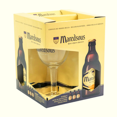 Maredsous Gift Pack (3 X 33cl + Glass)