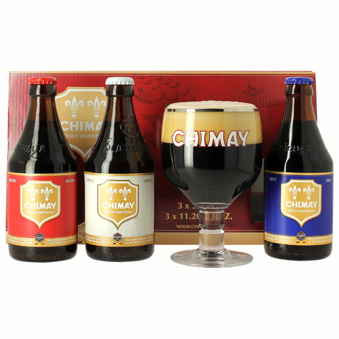 Chimay Trilogy Gift Pack (3 Beers + 1 Glass)