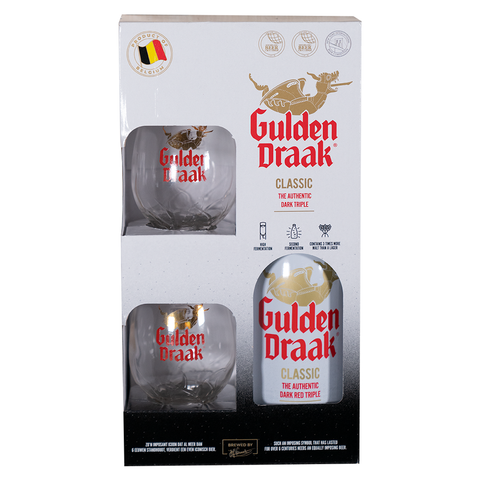 Gulden Draak Gift Pack (75cl + 2 Glasses)