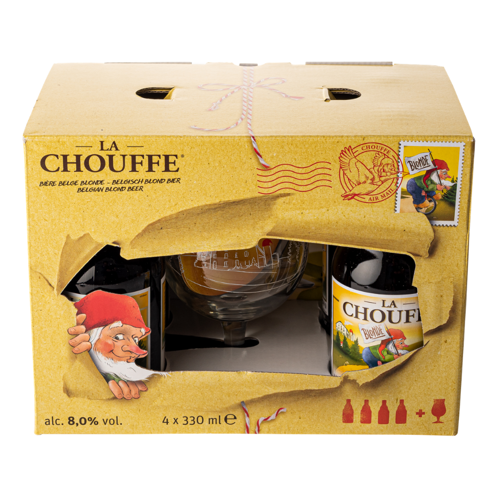 La Chouffe Gift Pack (4 X 33cl + Glass)