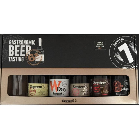 SEPTEM - Gift Pack (5x Beers + 1x Glass)