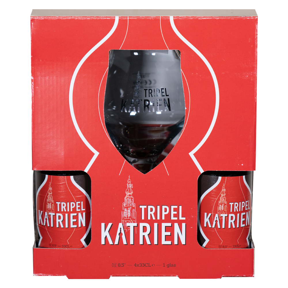 Tripel Katrien Gift Pack (4 X 33cl + Glass)