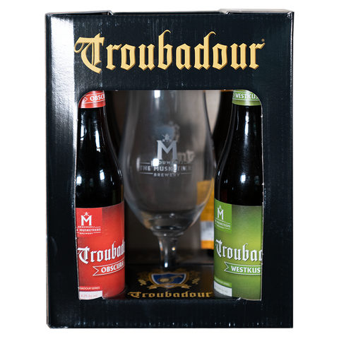 Troubadour Gift Pack (4 X 33cl + Glass)