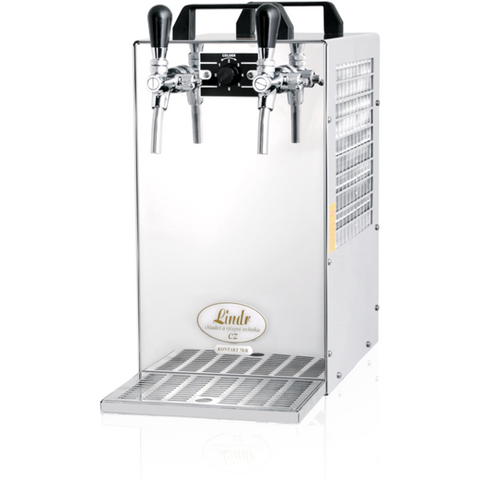 Lindr Kontakt 70/K 2-taps beer cooler with air compressor - The beer shop by Moondog's