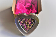 Organic Rose Tea in Heart Shaped Tin