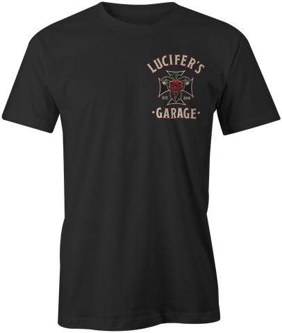 Lucifer's Garage Iron Cross T-Shirt