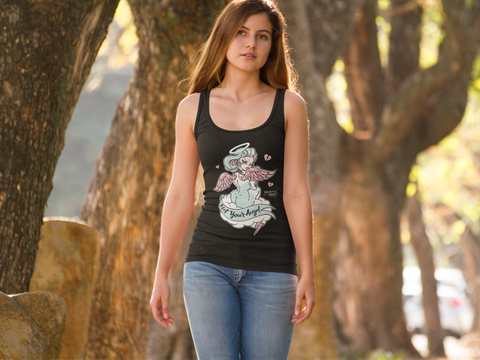 "Mistress May I ""Not Your Angel"" Racer Back Tank"