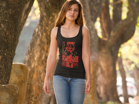 "Mistress May I ""Sin With Me"" Racer Back Tank"