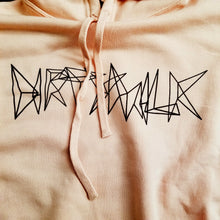 """Dirty"" Crop Hooded Sweat Pasty Peach"