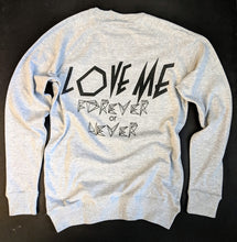 """LOVE ME"" sweat heather grey"