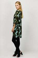 Blue Safari Petal Sleeve Tunic