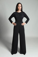 Pleated Jumpsuit – Black