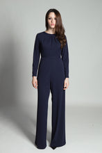 Pleated Jumpsuit - Blue